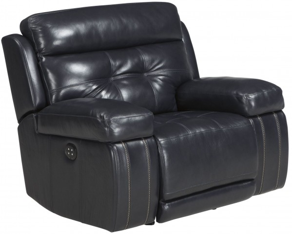 Graford Navy Power Recliner With Adjustable Headrest