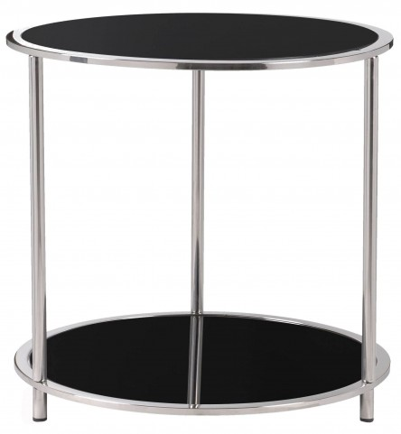Cocktail Black And Silver Accent Table