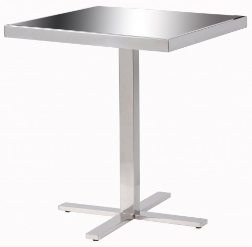 Prep Black And Silver Accent Table