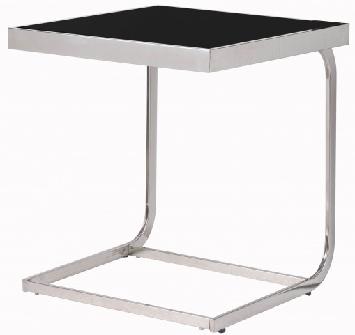 Tuck Black And Silver Accent Table