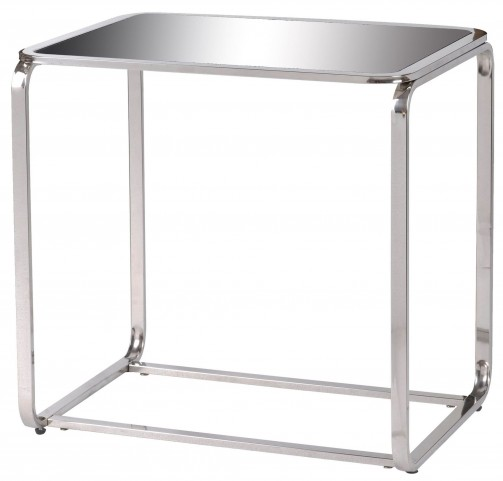 Duo Silver Accent Table