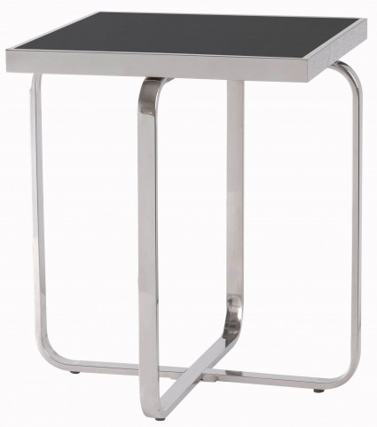 Decor Black And Silver Accent Table