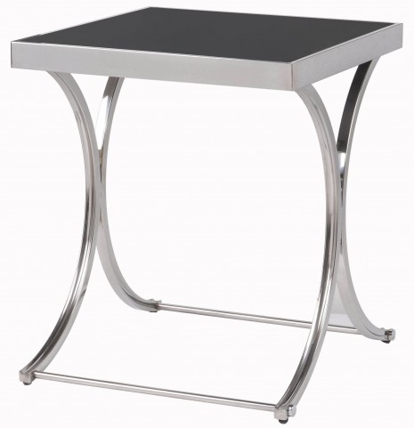 Apertif Black And Silver Accent Table