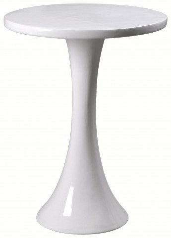 Snowbird Gloss White Accent Table