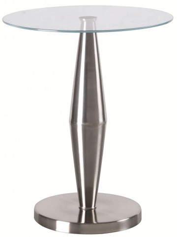 Metrica Brushed Steel Accent Table