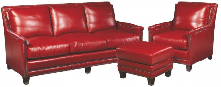Prescott Supple Red Living Room Set