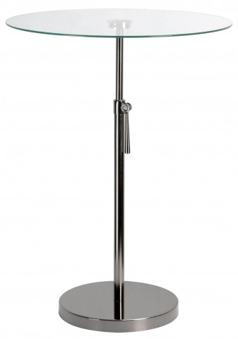 Propel Black Nickel Accent Table