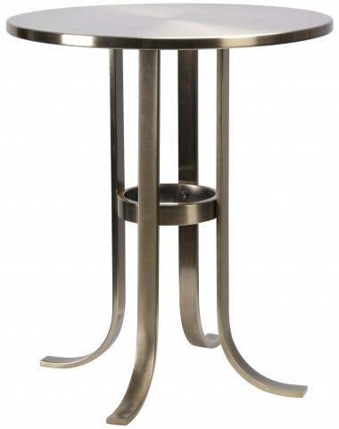 Riser Antique Brass Accent Table