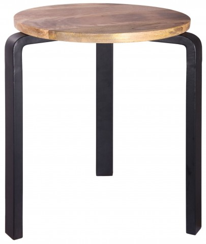 Stylus Natural Sanded and Black Accent Table
