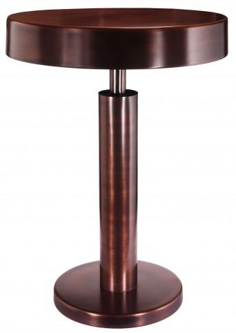 Altair Copper Antique Accent Table