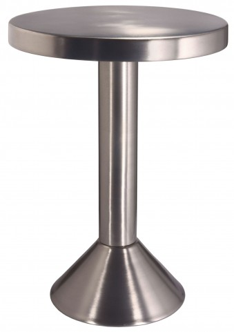 Sirus Satin Nickel Accent Table
