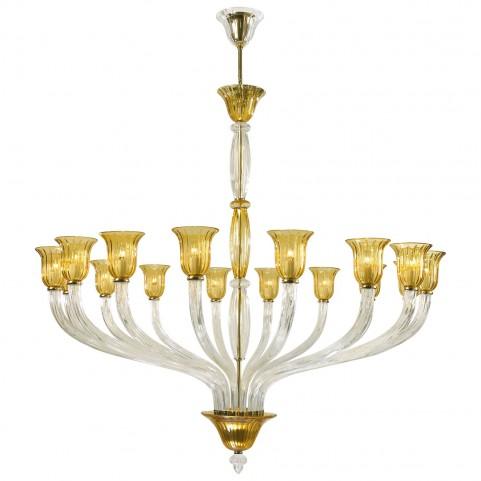 Vetrai Golden 16 Light Chandelier