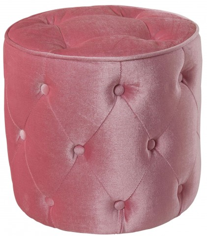 Young Parisian Pink Velvet Ottoman