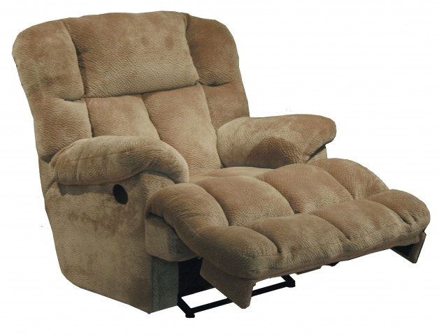 Cloud 12 Camel Chaise Rocker Recliner