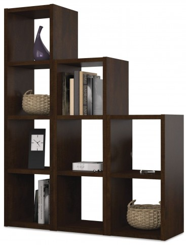 Chocolate Cubby 9 Sections Bookcase