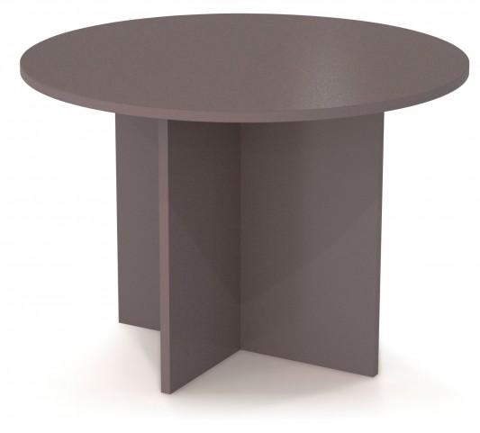 "Bestar 42"" Round Meeting Table With 1"" Melamine Top In Slate"