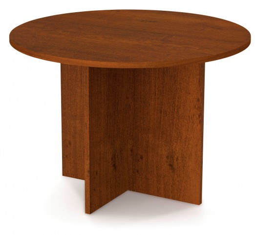 "Bestar 42"" Round Meeting Table With 1"" Melamine Top In Tuscany Brown"
