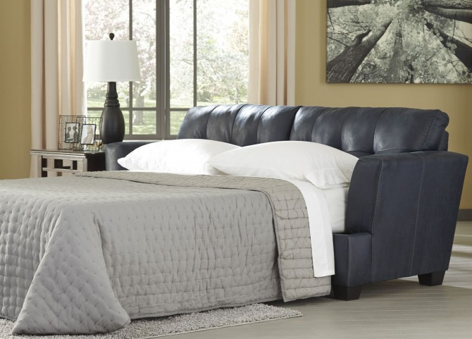 Inmon Navy Queen Sofa Sleeper