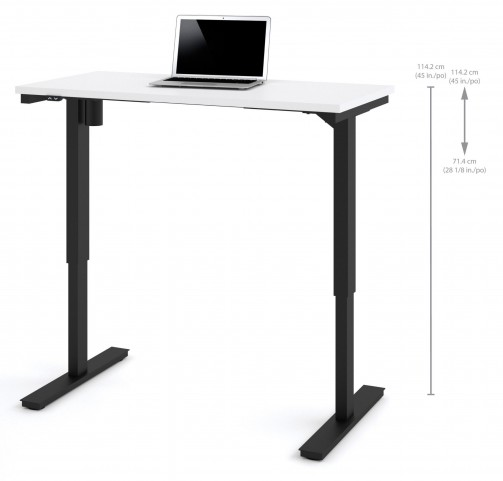 "48"" White Electric Height Adjustable Table"