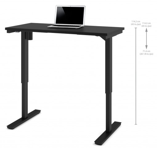"48"" Black Electric Height Adjustable Table"