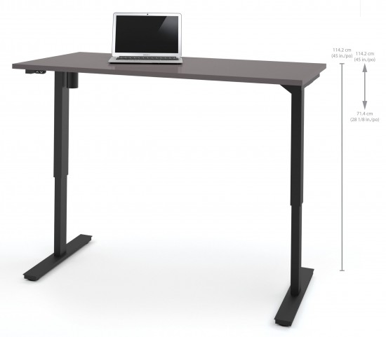 "60"" Slate Electric Height Adjustable Table"