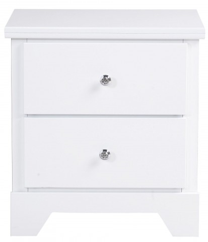 Marilyn Shiny White Nightstand