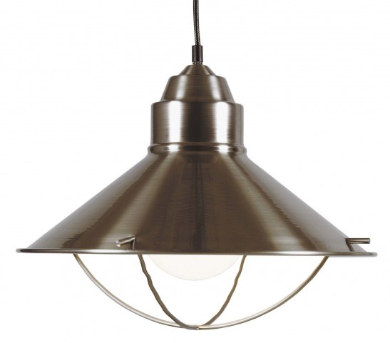 Harbour Brushed Steel 1 Light Pendant