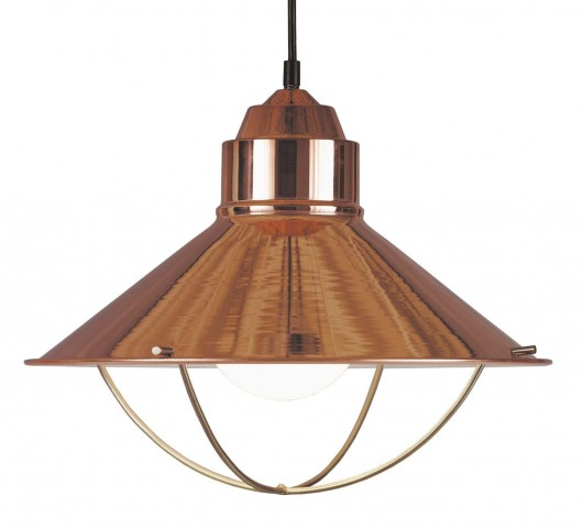 Harbour Copper 1 Light Pendant
