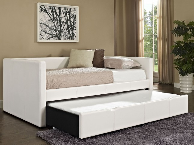Lindsey White Twin Trundle Daybed