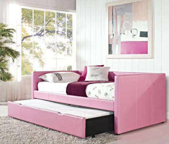 Lindsey Pink Upholstered Daybed
