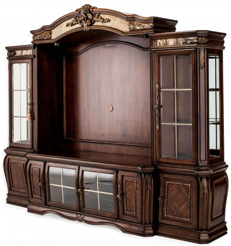 Oppulente Sienna Spice Entertainment Unit with Audio Cabinets