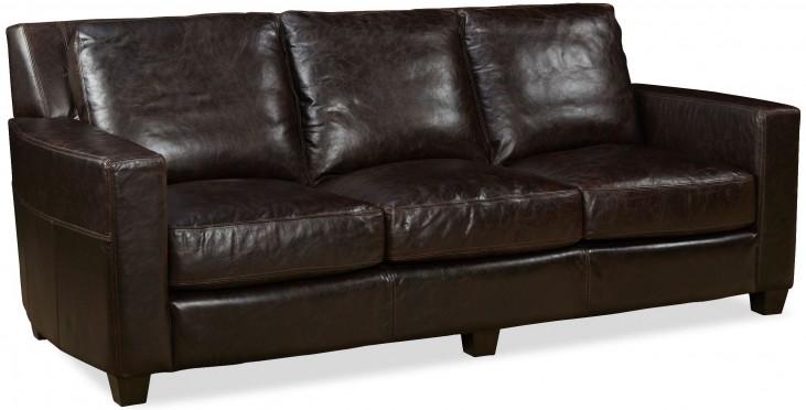 Marin Ravenswood Cocoa Leather Sofa