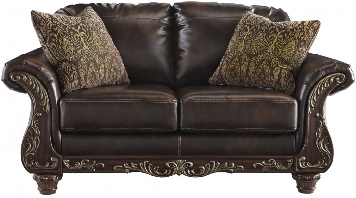 Vanceton Brown Loveseat