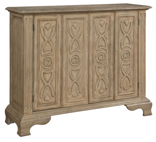 Kendall Texture Ivory Two Folding Door Cabinet