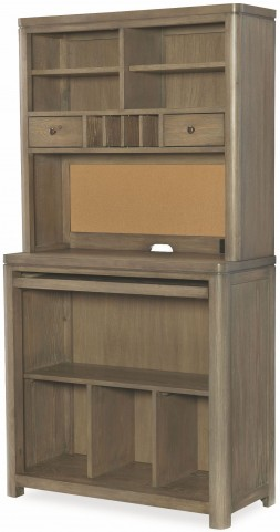Big Sky by Wendy Bellissimo Weathered Oak Desk with Hutch