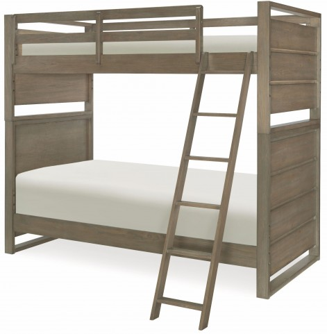 Big Sky by Wendy Bellissimo Weathered Oak Twin over Twin Bunk Bed