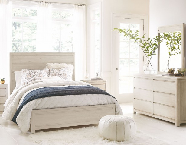 Indio by Wendy Bellissimo White Sand Panel Bedroom Set