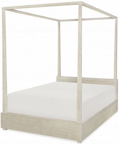 Indio by Wendy Bellissimo White Sand Full Canopy Poster Bed