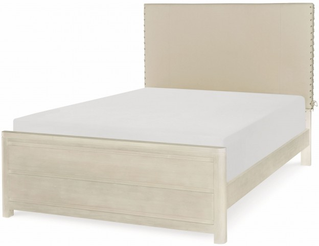 Indio by Wendy Bellissimo White Sand Full Upholstered Bed