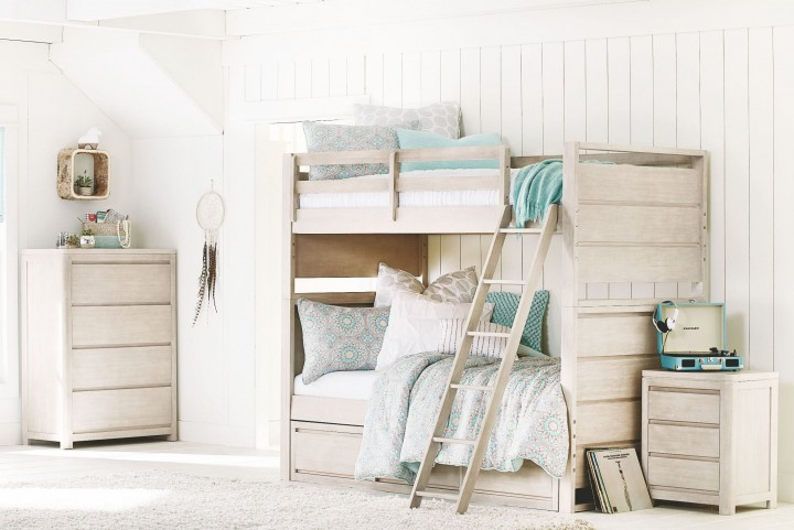 Indio by Wendy Bellissimo White Sand Bunk Bedroom Set