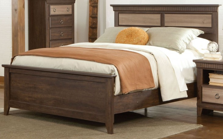 Weatherly Textured Two-Tone Full Panel Bed