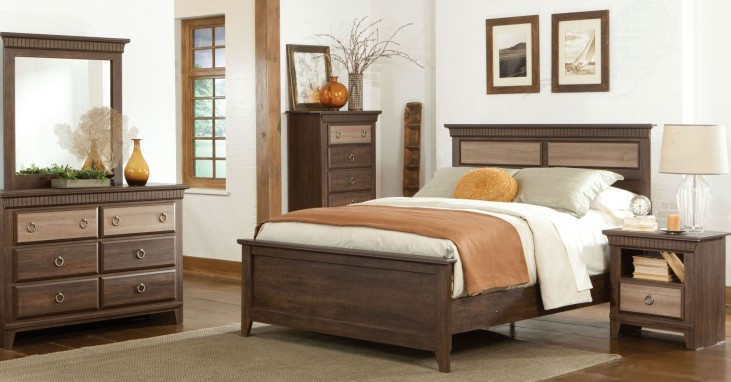 Weatherly Textured Two-Tone Youth Panel Bedroom Set