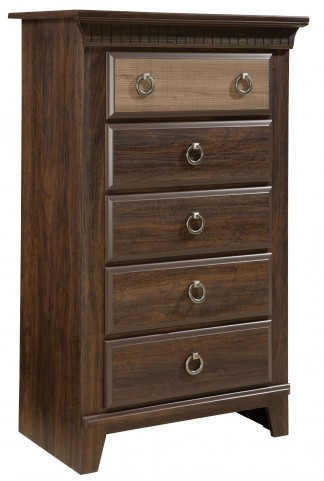 Weatherly Textured Two-Tone 5 Drawer Chest
