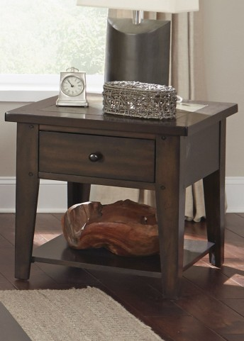 Hearthstone Dark Rustic Oak End Table