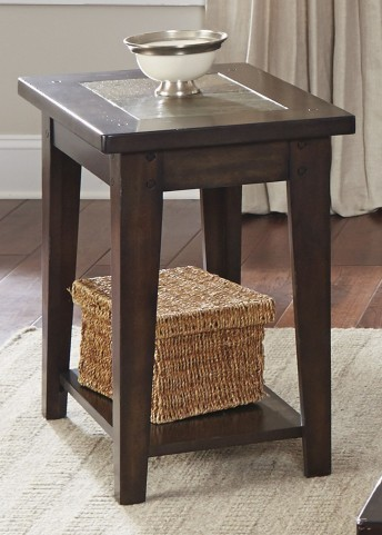 Hearthstone Dark Rustic Oak Chair Side Table