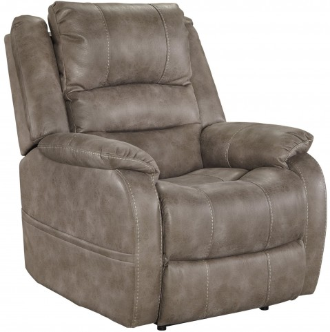 Barling Mushroom Power Recliner With Adjustable Headrest