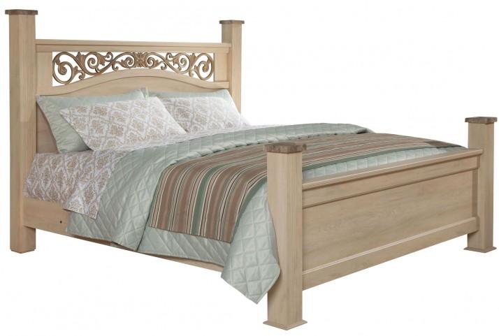 Torina Light Creamy King Poster Bed