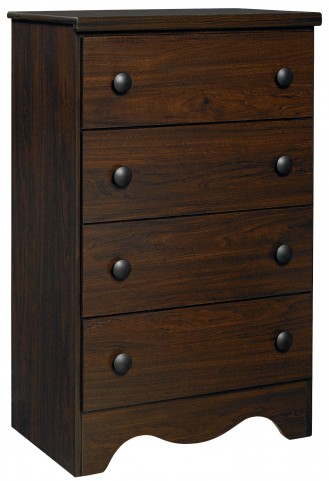 Factory Select Dark Coffee 4 Drawer Chest