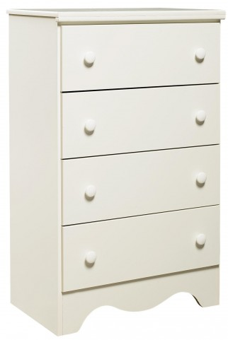 Factory Select Heritage White 4 Drawer Chest