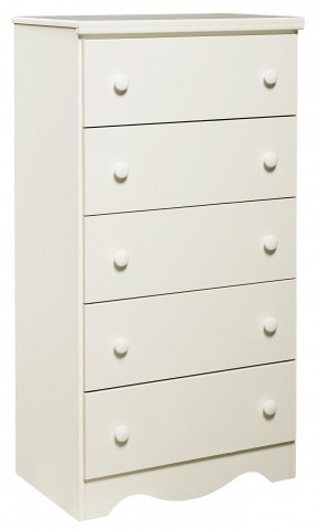 Factory Select Heritage White 5 Drawer Chest